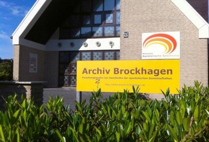 Archiv Brockhagen - Eingangsschild