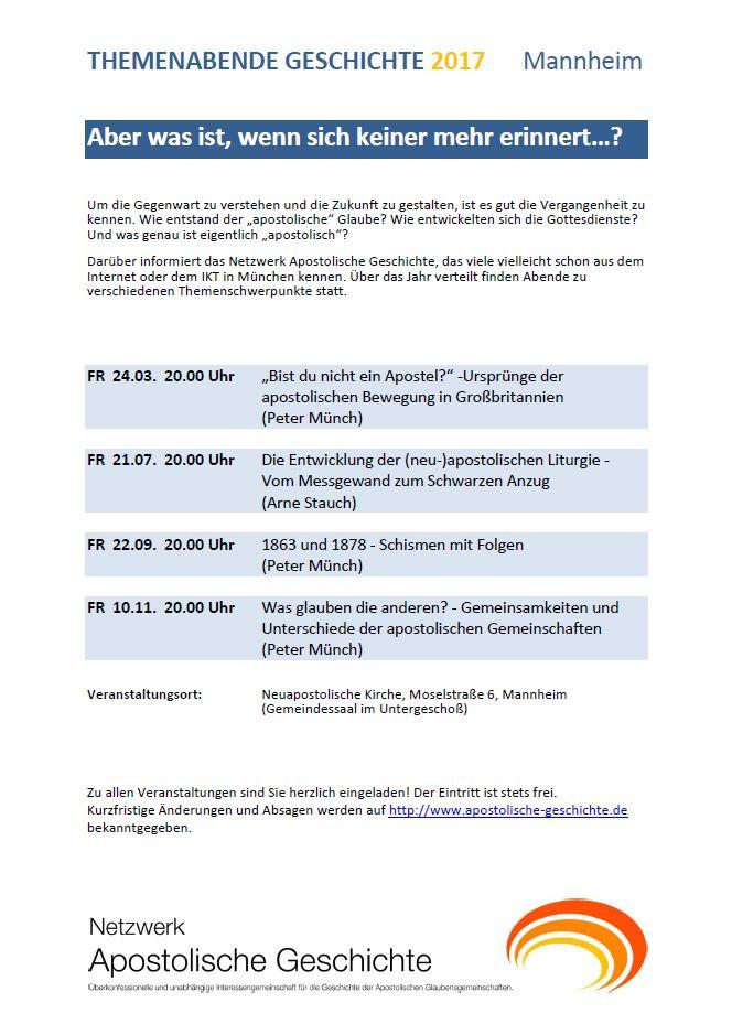 Themenabende Mannheim 2017