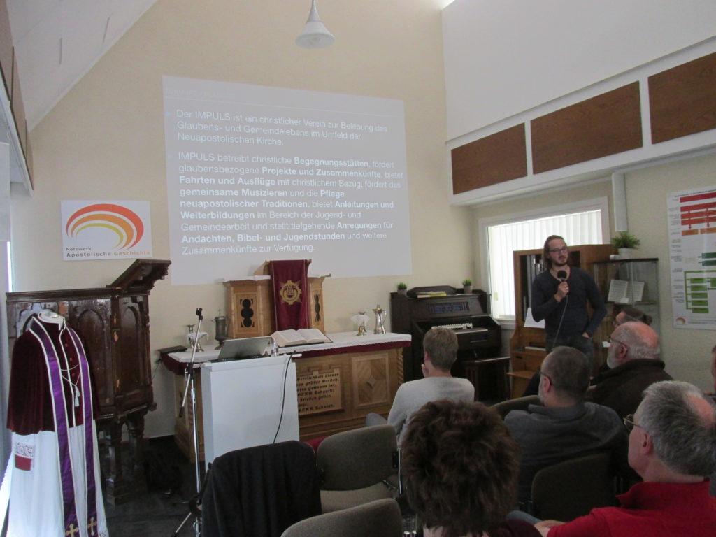 Vortrag von Sebastian Müller-Bahr zum Projekt IMPULS aus Merseburg.Vortrag von Sebastian Müller-Bahr zum Projekt IMPULS aus Merseburg.