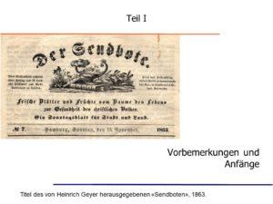 Archiv Brockhagen: Die Aussonderung der Apostel vor 185 Jahren